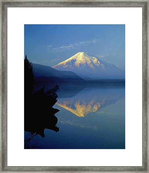 1m4907-v-mt. St. Helens Reflect V  Framed Print