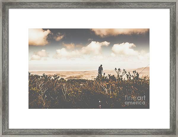 Mt Zeehan Backpacker  Framed Print
