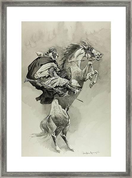 Mubarek The Arabian Chief Framed Print