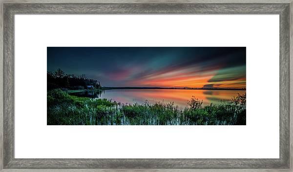 Mud Bay Sunset 4 Framed Print
