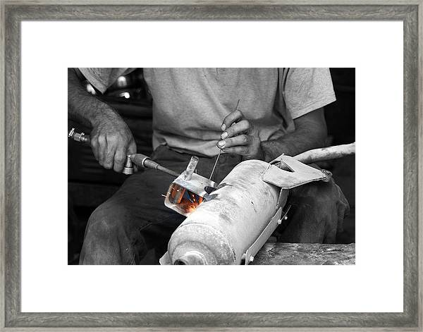 Muffler Weld Framed Print by Don Prioleau