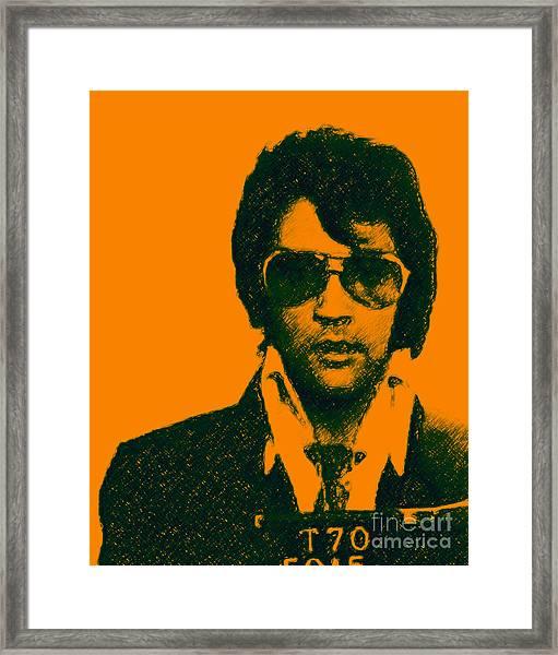 Mugshot Elvis Presley Framed Print