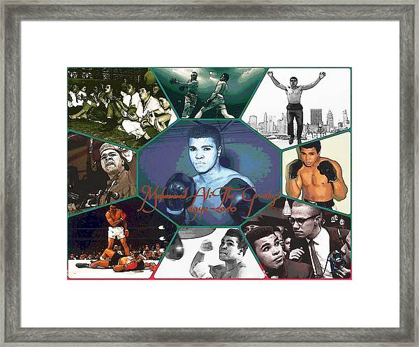 Muhammad Ali The Greatest  Framed Print