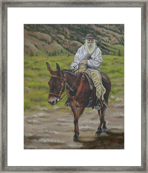 Mule Walk Framed Print