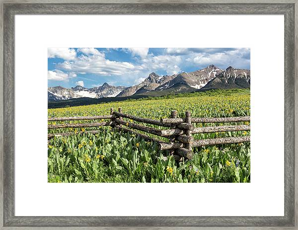 Mule's Ears And Mountains Framed Print