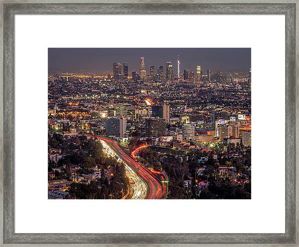 Mulholland Drive View #2 Framed Print