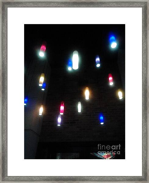 Multi Colored Lights Framed Print