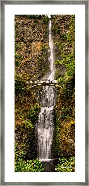 Framed Print featuring the photograph Multnomah Falls  by Claudia Abbott