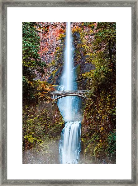 Framed Print featuring the photograph Multnomah Falls by Kevin McClish