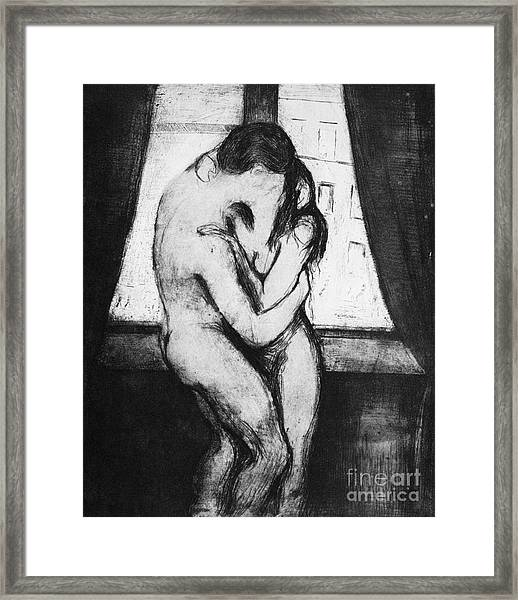 The Kiss, 1895 Framed Print