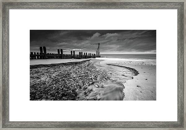 Mundesley Beach - Mono Framed Print