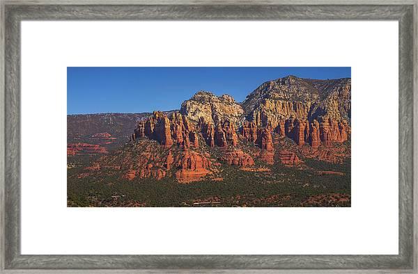 Munds Mountain Panorama Framed Print