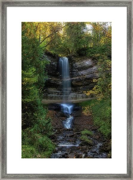 Munising Falls Framed Print