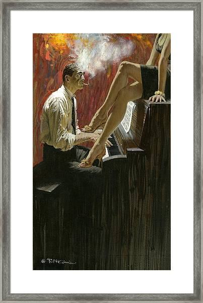 Murder Me For Nickels Framed Print by Robert McGinnis