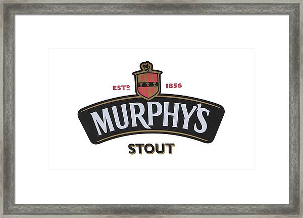 Murphys Irish Stout Framed Print