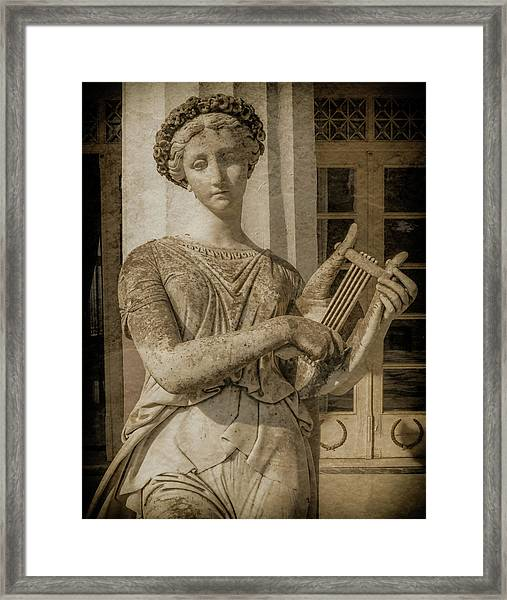 Framed Print featuring the photograph Achilleion, Corfu, Greece - The Muse Terpsichore by Mark Forte