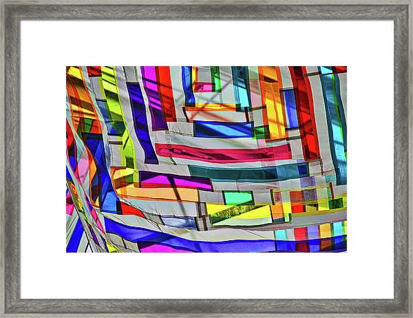 Museum Atrium Art Abstract Framed Print