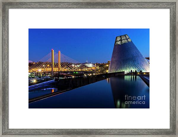 Museum Of Glass At Blue Hour Framed Print