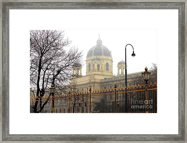 Museum Of Natural History Vienna Framed Print by John Rizzuto