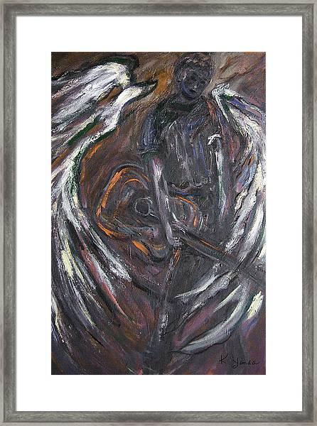 Music Angel Of Broken Wings Framed Print
