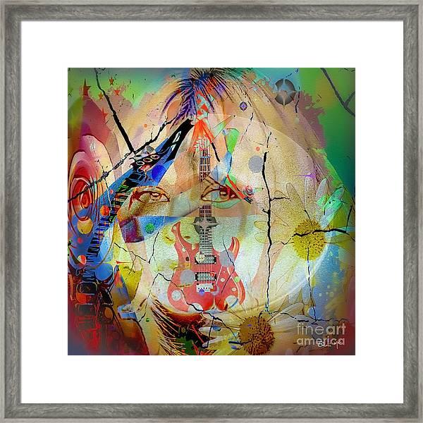 Framed Print featuring the digital art Music Girl by Eleni Mac Synodinos