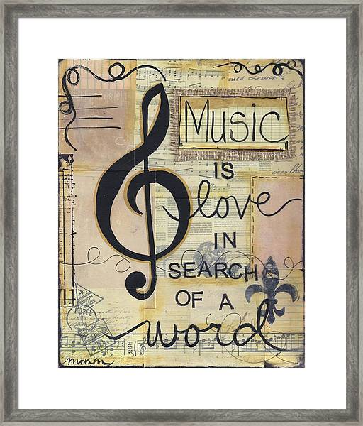 Music Is Love Framed Print
