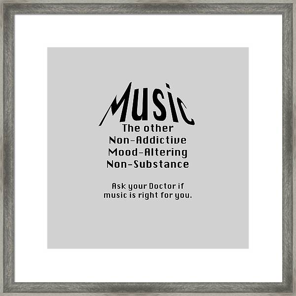 Music Is Right For You 5502.02 Framed Print
