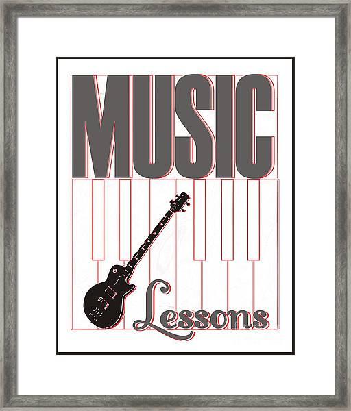 Music Lessons Framed Print