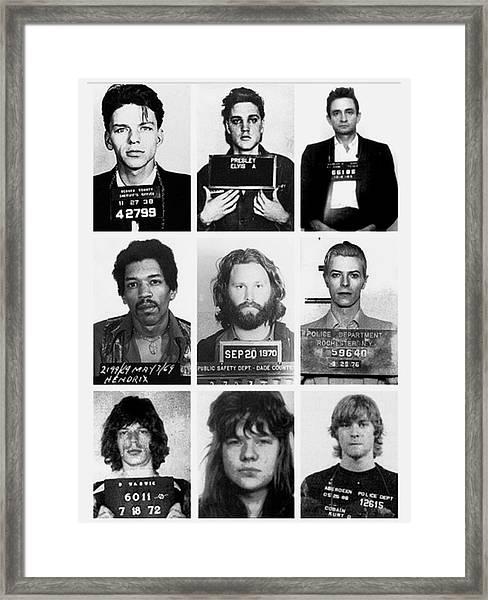 Musical Mug Shots Three Legends Very Large Original Photo 9 Framed Print