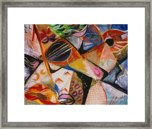 Musical Pastels Framed Print