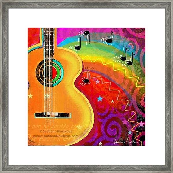 Musical Whimsy Painting By Svetlana Framed Print