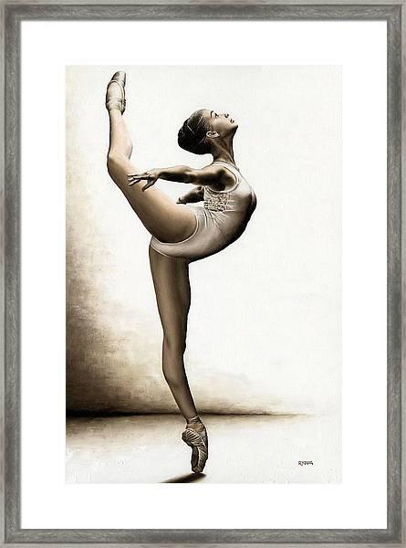 Musing Dancer Framed Print