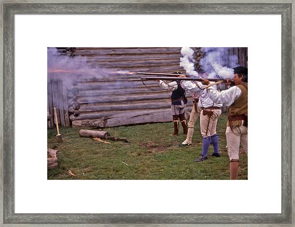 Musket Fire - 1 Framed Print by Randy Muir