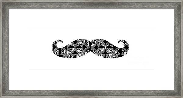 Mustache Tee Framed Print
