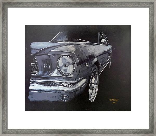 Mustang Front Framed Print