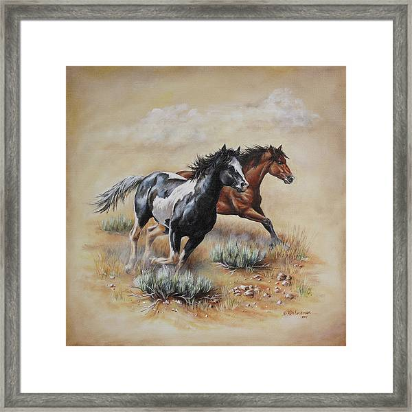 Mustang Glory Framed Print