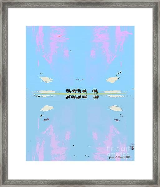Mustang Island Framed Print