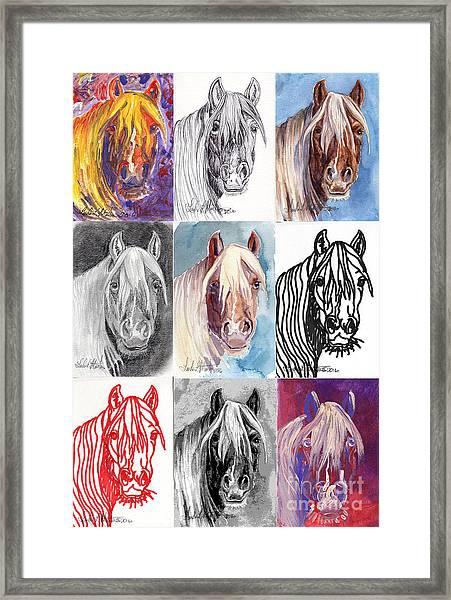 Mustang Mare 1154 Framed Print