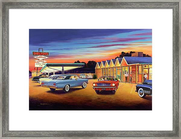 Mustang Sally - Shelton's Diner 2 Framed Print