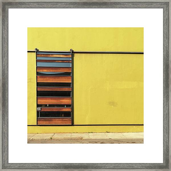 Mustard Wall Framed Print