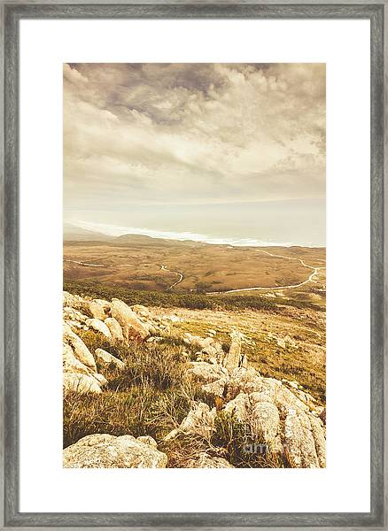 Muted Mountain Views Framed Print