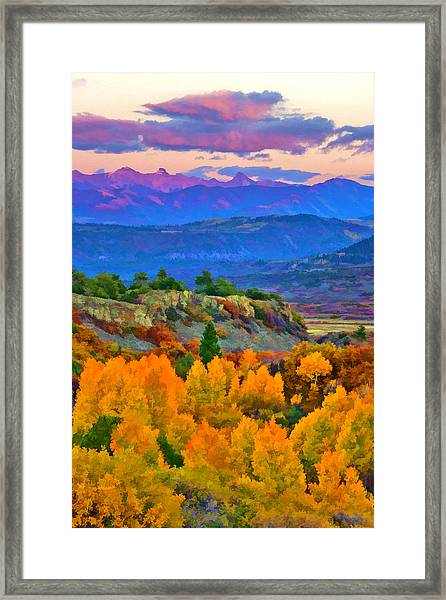 Muted Sunset Colors Of Autumn Framed Print
