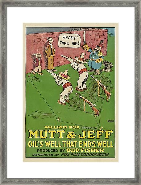 Mutt And Jeff 1919 Framed Print