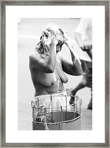 My Bathroom 9 Framed Print by Jez C Self