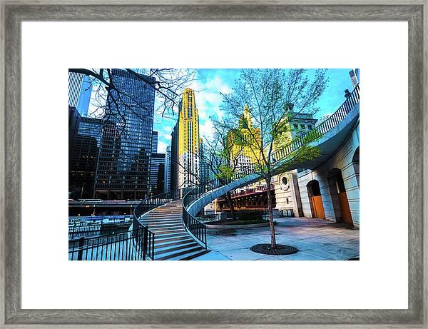 My Blue Chi Framed Print
