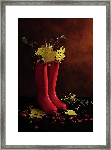 My Boots Are Cool Framed Print
