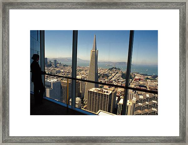 My City On The Bay Framed Print by Carl Purcell