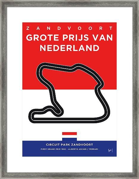 My F1 Zandvoort Race Track Minimal Poster Framed Print