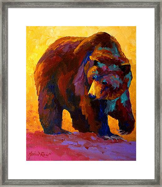 My Fish - Grizzly Bear Framed Print