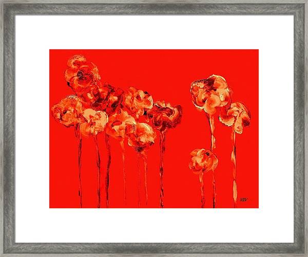 My Garden - Red Framed Print